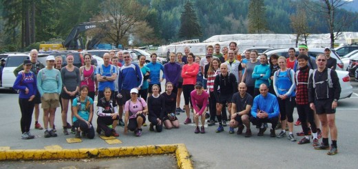 Photo by Tom Lucas.    Wednesday Night Training Run Group.
