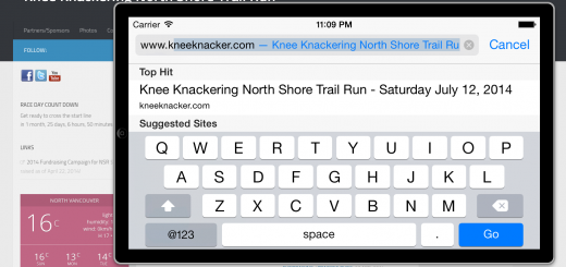 KKNSTR Website on iPhone