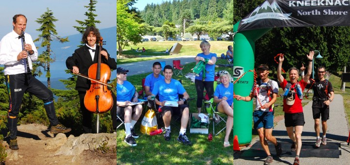 Black Mtn Aid Station Musicians, Finish Line timers, 4Q Pre-Sweepers crossing the Finish Line.