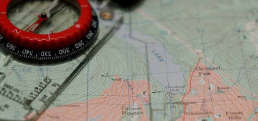 Map and compass to Cleveland Aid Station